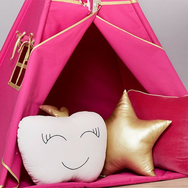 Gold Fuchsia Fun with mum TEE-MAT-GOL-FUC Tipi Set mit Bodenmatte