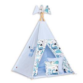 Teepee Tent + Floor Mat + Pillows - Dino