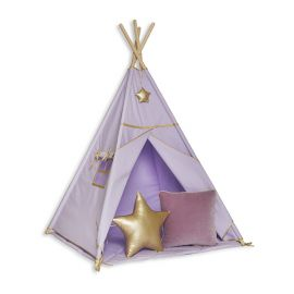 Namiot Tipi + Mata + Poduszki Gold Lilac