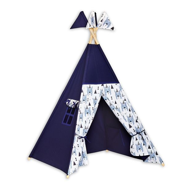 Teepee Tent - Bear Face