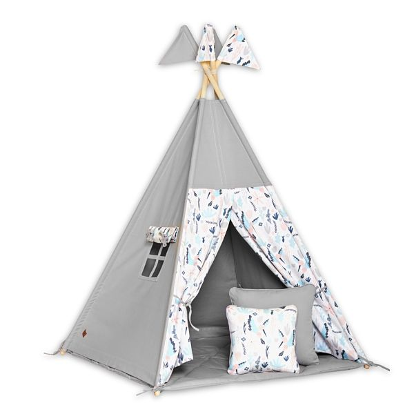 Teepee Tent + Floor Mat + Pillows - Colibri Flower