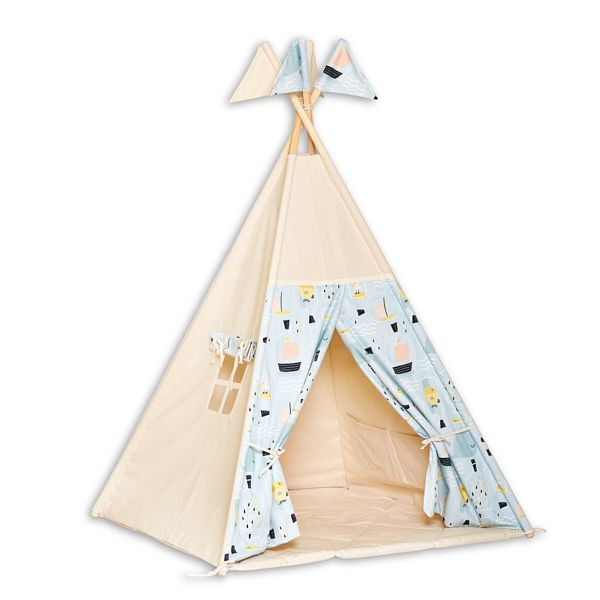 Teepee Tent + Floor Mat - Fish in Jar