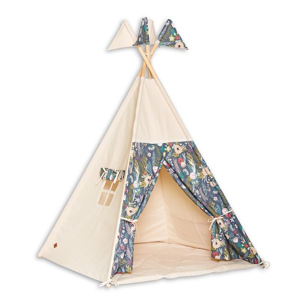 Tente Tipi + Tapis - Floral Blooming