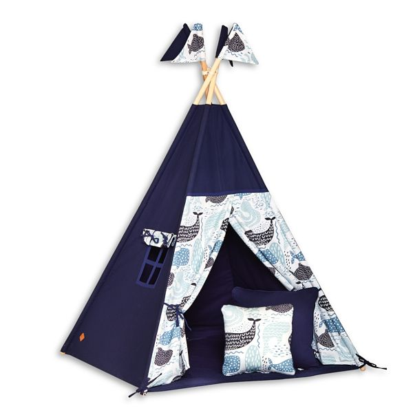 Teepee Tent + Floor Mat + Pillows - Sea Adventure
