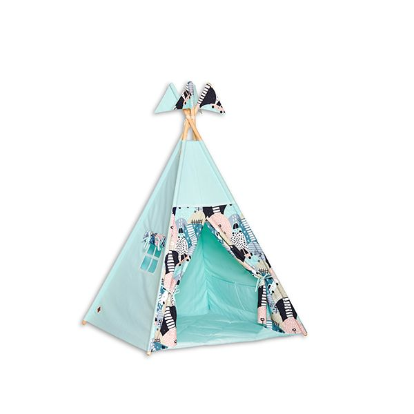 Teepee Tent + Floor Mat - Cartoon Cars