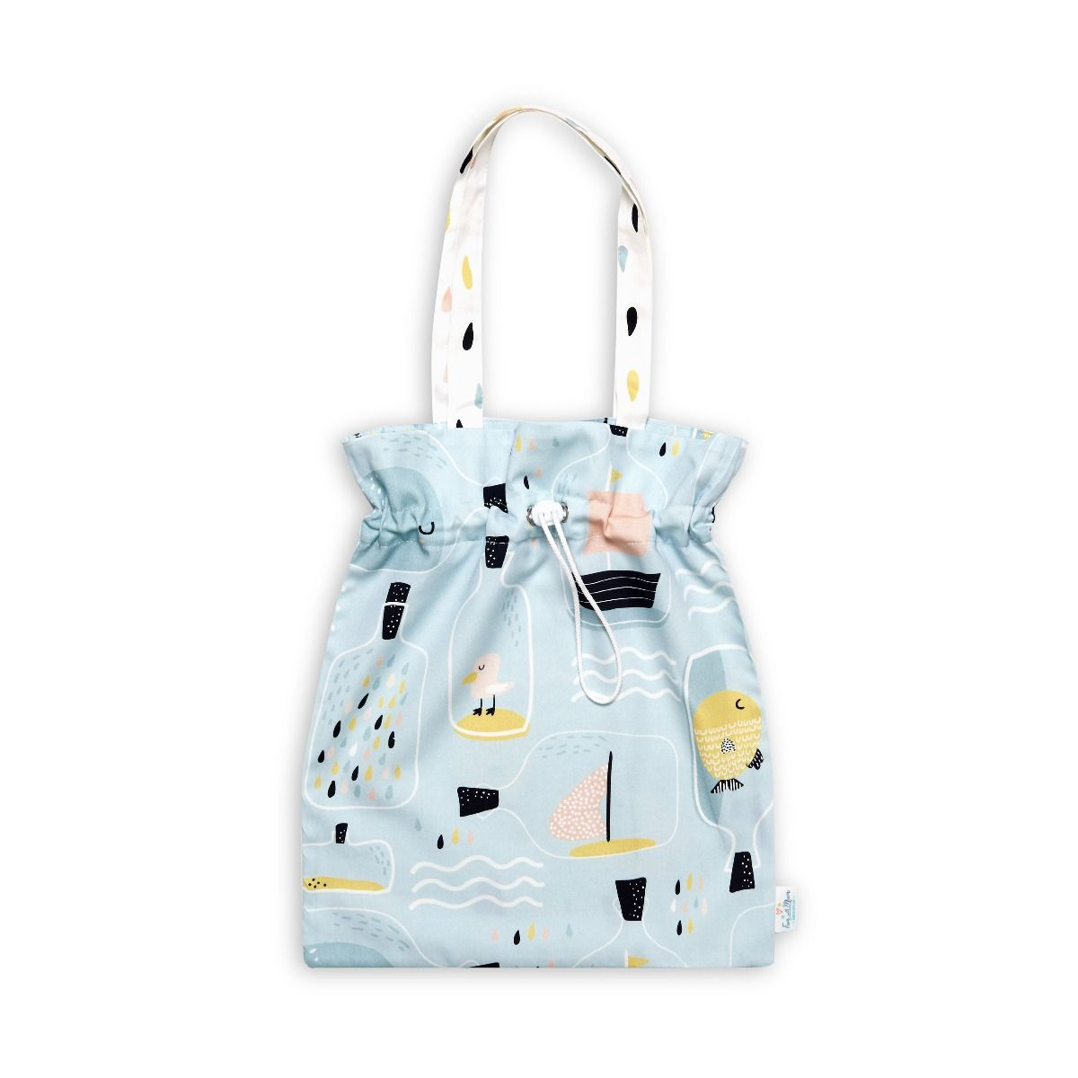Drawstring Bag - Fish in Jar
