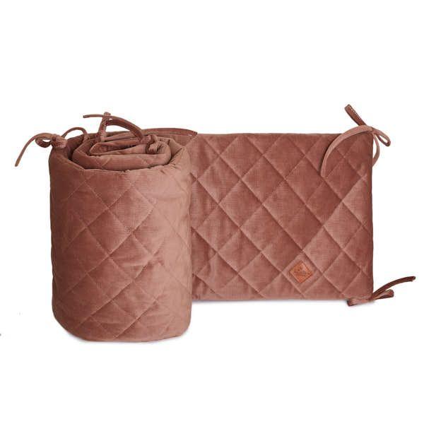 Baby Bed Bumper 70x140 - Velvet - Brown Mocca