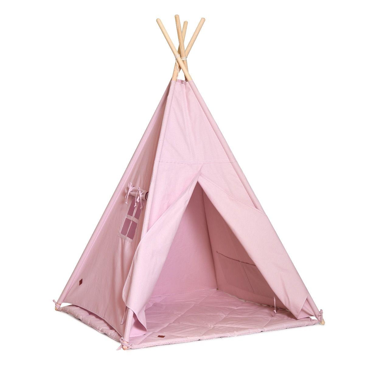Tente Tipi + Tapis - Powder Pink