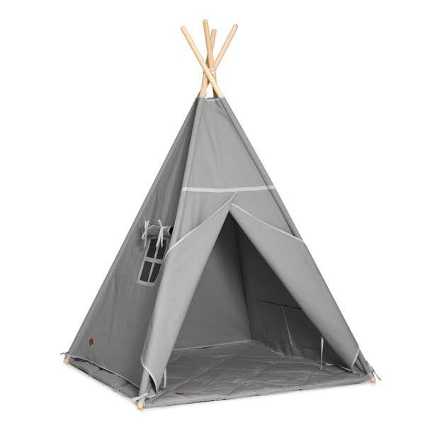 Teepee Tent + Floor Mat - Grey