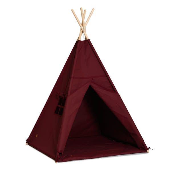 Teepee Tent + Floor Mat - Maroon