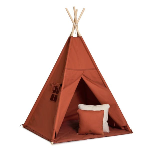 Teepee Tent + Floor Mat + Pillows - Ginger