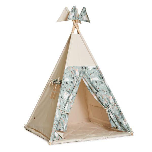Teepee Tent + Floor Mat - Rabbit