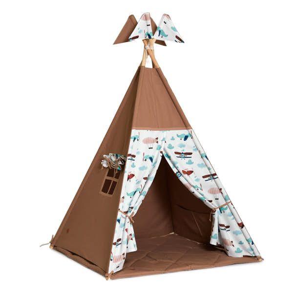Teepee Tent + Floor Mat - Airplane