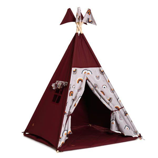 Teepee Tent + Floor Mat - Rainbow
