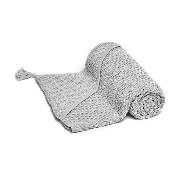 Kocyk Bawełniany z Kapturkiem - Grey