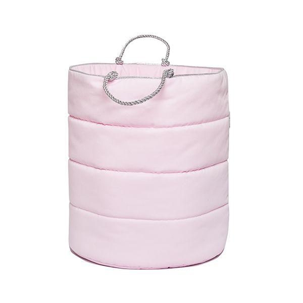 Kosz na Zabawki Duży - Silver Pink