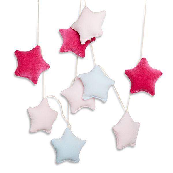 Girlanda - Velvet Purple Stars