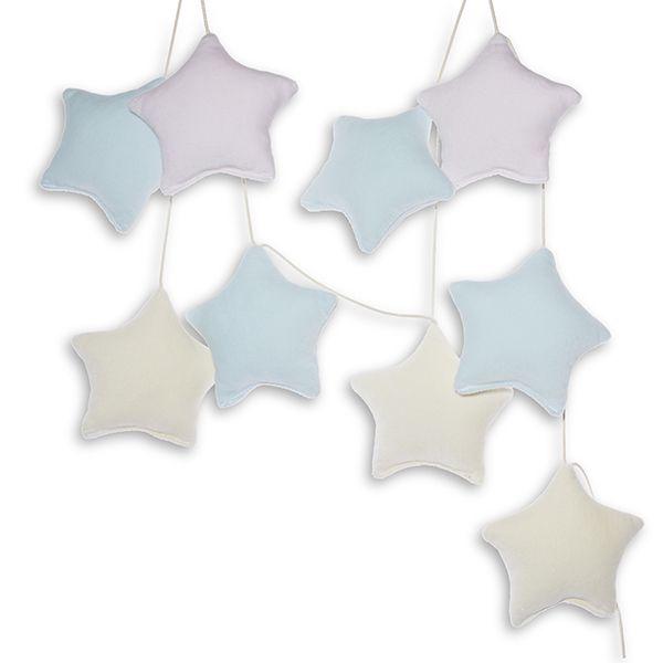 Girlanda - Velvet Pastel Stars