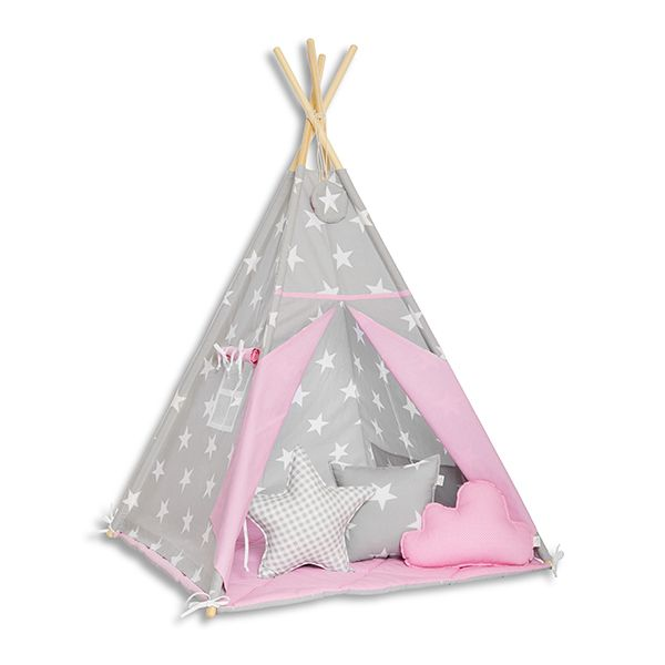 Namiot Tipi + Mata + Poduszki - Candy Star