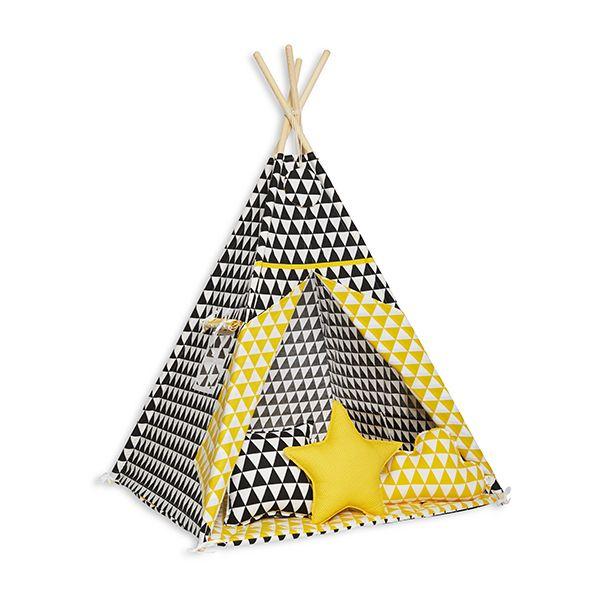 Namiot Tipi + Mata + Poduszki - Contrast Triangle