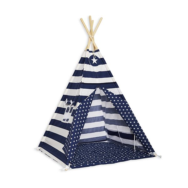 Namiot Tipi + Mata - Navy Stripes