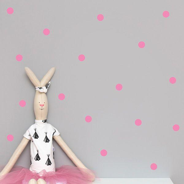 Naklejki - Dots Pink