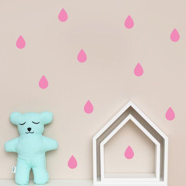 Naklejki - Drop Pink