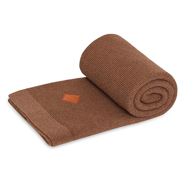 Knitted Blanket - Mokka