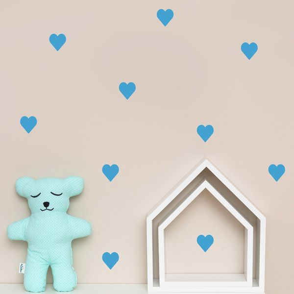 Naklejki - Heart Blue