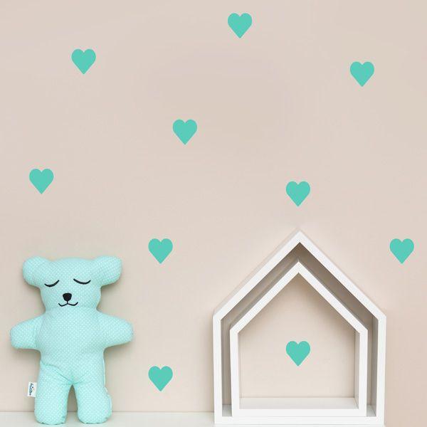Naklejki - Heart Mint