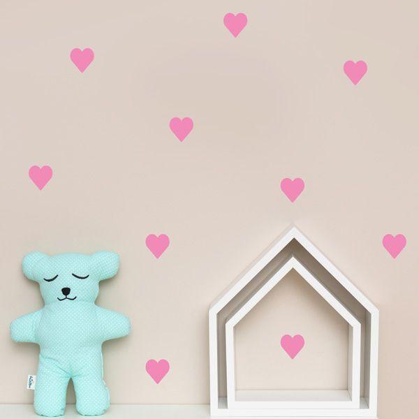 Naklejki - Heart Pink