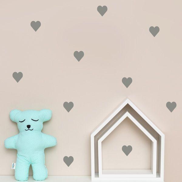 Naklejki - Heart Silver