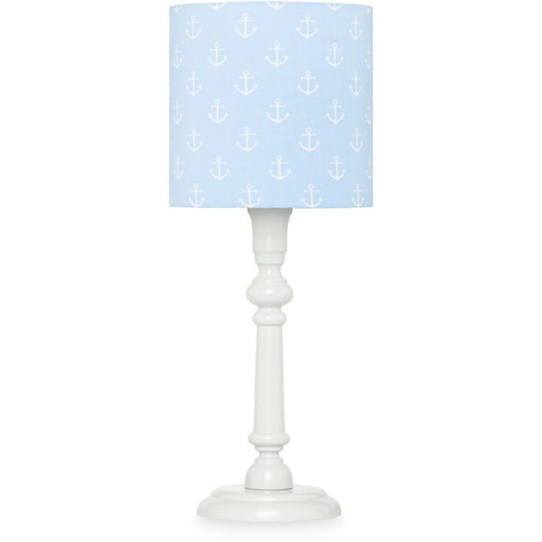 Lampka nocna - Grey + Blue Anchors
