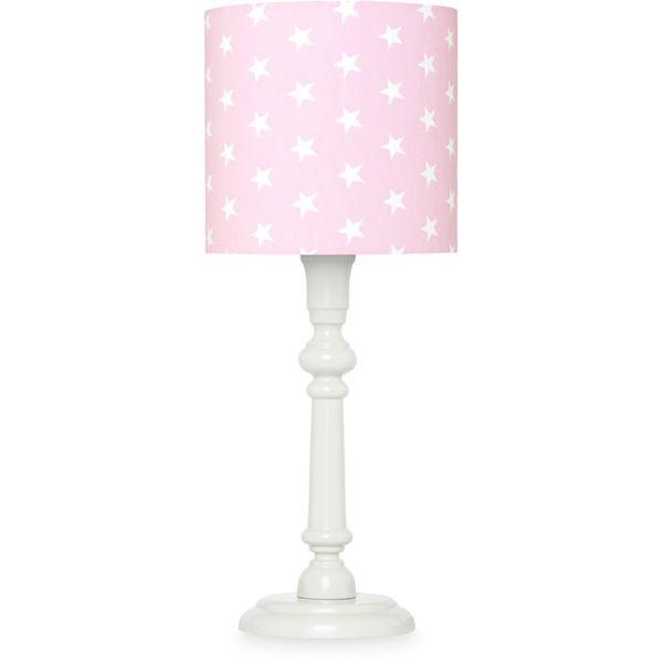 Lampka nocna - Grey + Stars on Pink