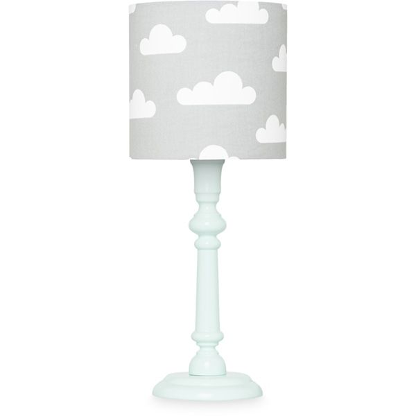 Lampka nocna - Mint + Clouds on Grey