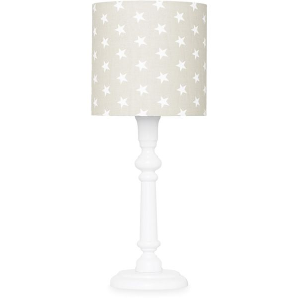 Lampka nocna - White + Stars on beige