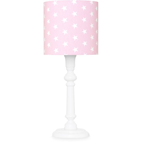 Lampka nocna - White + Stars on Pink