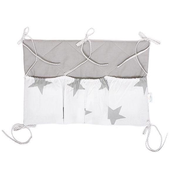 Organizer łóżeczkowy - Bright Grey