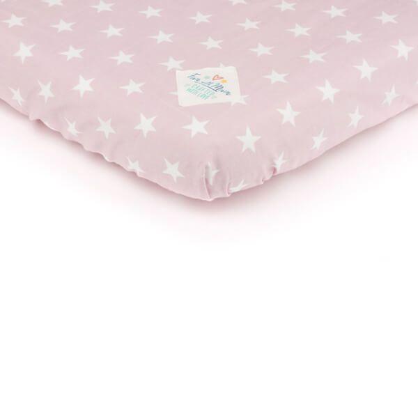 Prześcieradło 70x140 - Stars on Pink