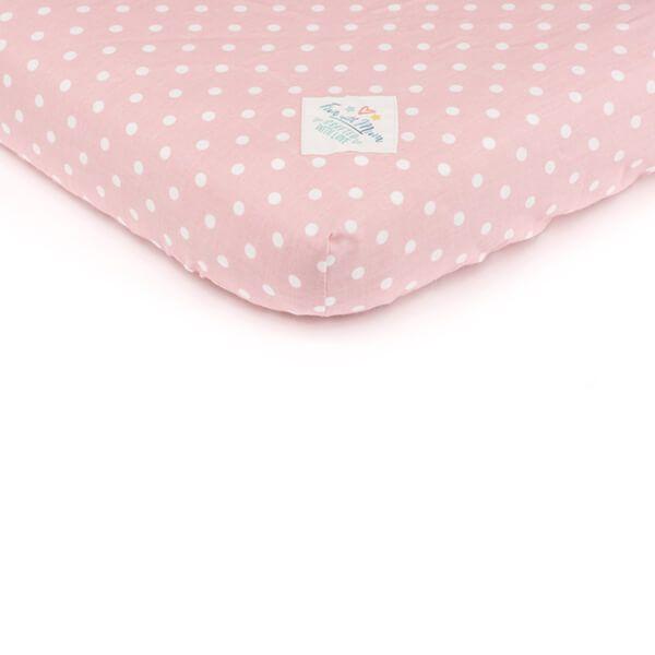 Prześcieradło 70x140 - Pink Dots