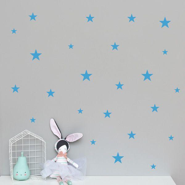 Naklejki - Stars Mix Blue