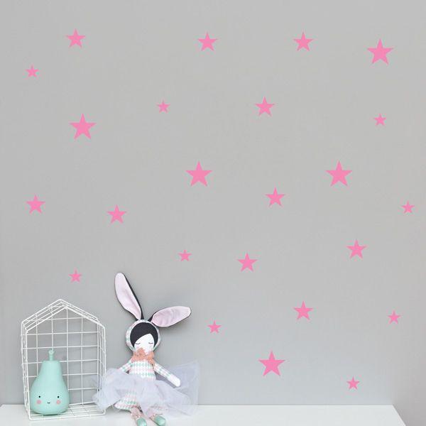 Naklejki - Stars Mix Pink