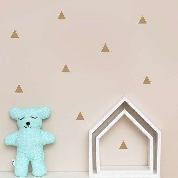 Naklejki - Triangles Gold