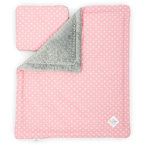 Kocyk + Poduszka Niemowlaka - Pink Dots