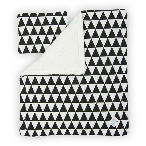 Kocyk + Poduszka Niemowlaka - Black&White