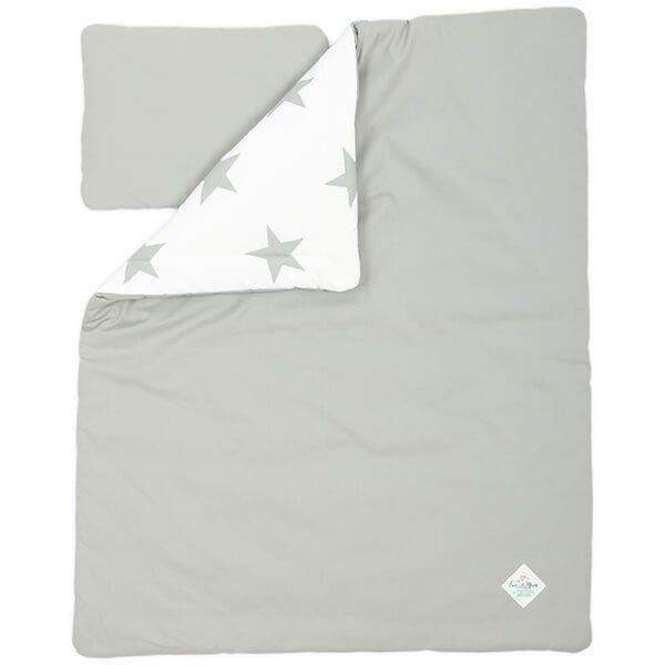 Kołderka + Poduszka Średniaka - Bright Grey