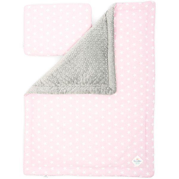 Kocyk + Poduszka Starszaka - Pretty Pink