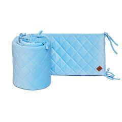 Ochraniacz do łóżeczka 60x120 - Velvet - Blue