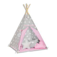 Teepee Tent + Floor Mat + Pillows - Candy Star