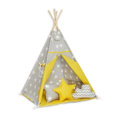 Teepee Tent + Floor Mat + Pillows - Sunny Morning